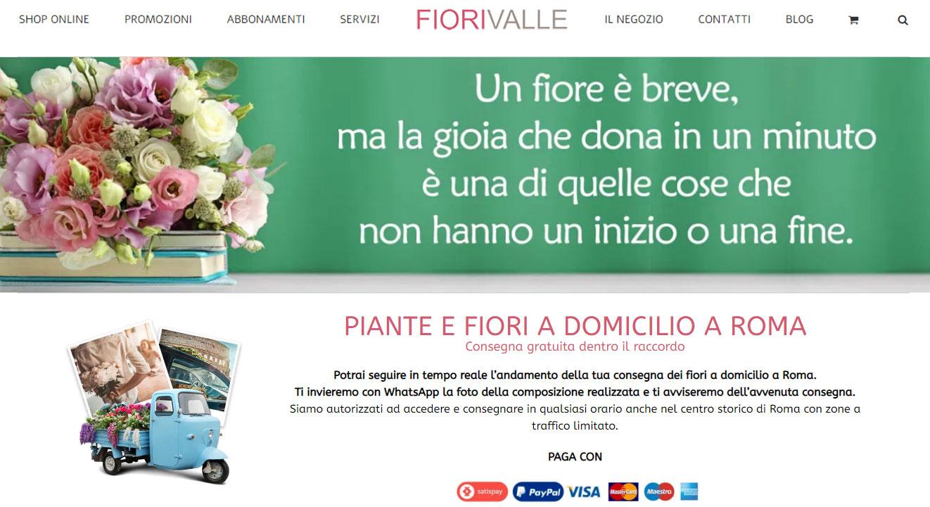 Fiorivalle, piante e fiori a domicilio a Roma